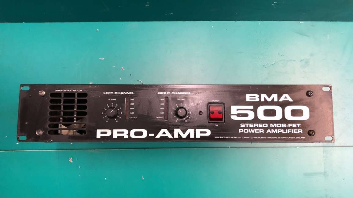 Pro-Amp BMA 500 Amplifier